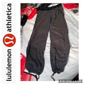 LuLuLemon Long Gray Silky Harem Pants Size 8